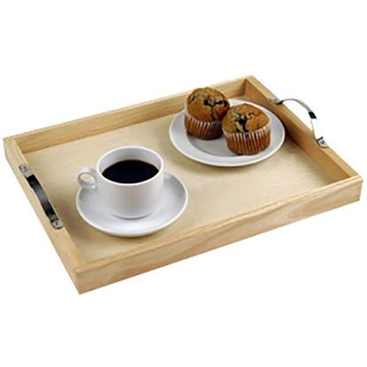 """Picture of 'NATURALS'  TRAY WITH HANDLES 30x40cm/12""""x16"""""""