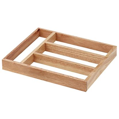 Picture of 'NATURALS' WOODEN CUTLERY TRAY