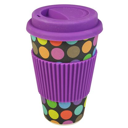 Picture of BAMBOO TRAVEL MUG- DOTS (400ml/14oz)