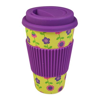 Picture of BAMBOO TRAVEL MUG- FLORAL (400ml/14oz)