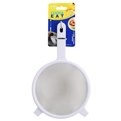 """Picture of 15cm/6""""  WHITE SIEVE WITH S/S MESH"""