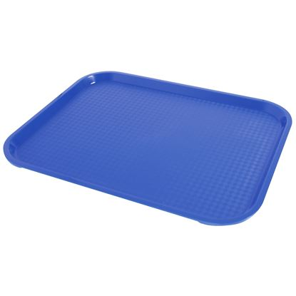 """Picture of FAST FOOD BLUE TRAY 31 X 41CM/ 12"""" X 16"""""""