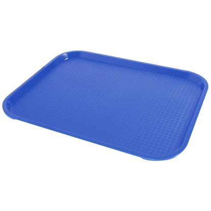 """Picture of FAST FOOD BLUE TRAY 36 X 46CM/ 14"""" X 18"""""""