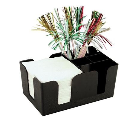 Picture of BAR CADDY BLACK 24 X 14.5  X 10.5cm