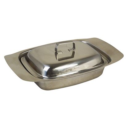 Picture of BUTTER DISH ST STEEL WITH LID