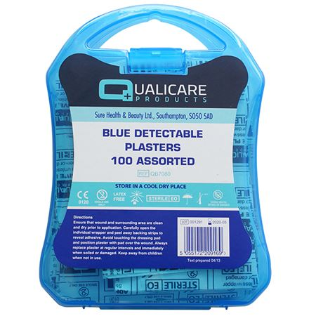 Picture of 100PC BLUE PLASTER KIT WITH BOX (ASSORTED SIZES)