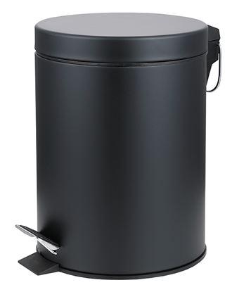 Picture of PEDAL BIN ROUND MATT BLACK 3ltr