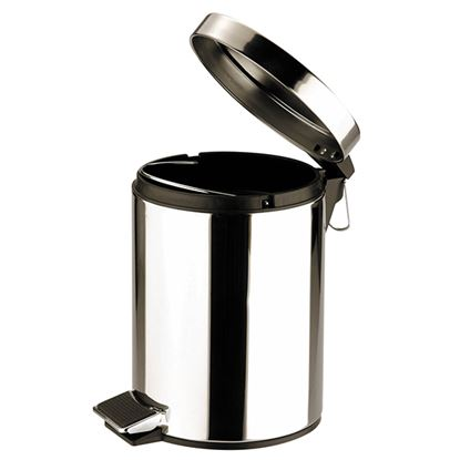 Picture of PEDAL BIN ROUND St St MIRROR 5ltr