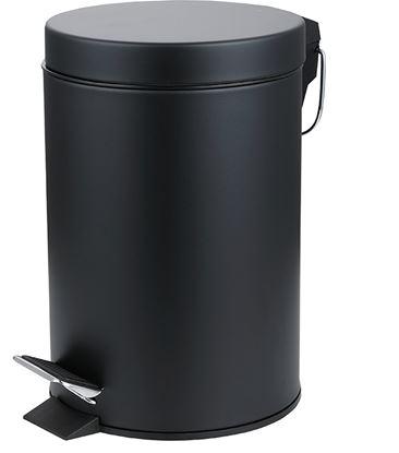 Picture of PEDAL BIN ROUND MATT BLACK 5ltr