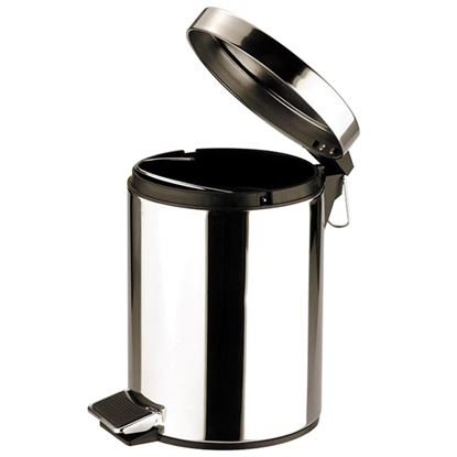 Picture of PEDAL BIN ROUND St St MIRROR 12ltr