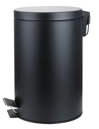 Picture of PEDAL BIN ROUND MATT BLACK 12ltr