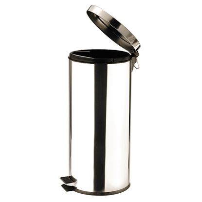 Picture of PEDAL BIN ROUND St St MIRROR 30ltr