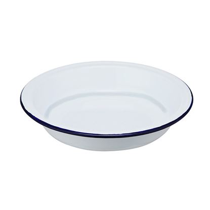 Picture of ENAMEL DEEP ROUND PLATE 22.5cm