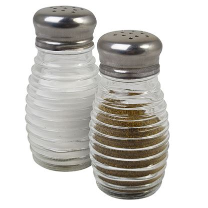 Picture of RIBBED SALT/PEPPER SHAKERS 12 PACK