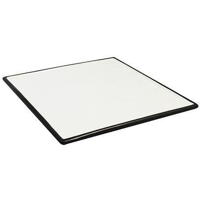 Picture of CONTRA SQ. PRES PLATE WHITE WITH BLACK TRIM 10in
