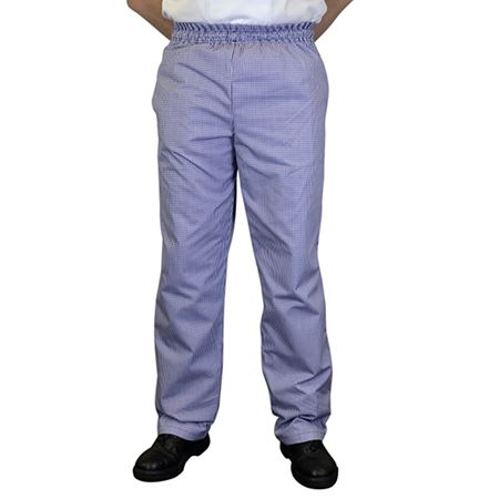 Picture of TROUSERS BAGGY BLUE CHECK LARGE 34in REGULAR