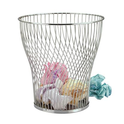 Picture of CHROME WIRE WASTE PAPER BASKET