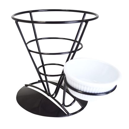 Picture of BLACK DISPLAY CONE AND RAMEKIN HOLDER