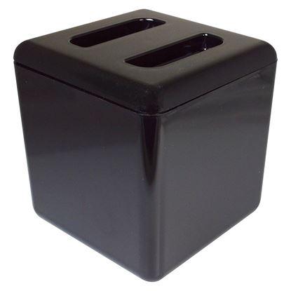 Picture of SQUARE PLASTIC ICE BUCKET BLACK