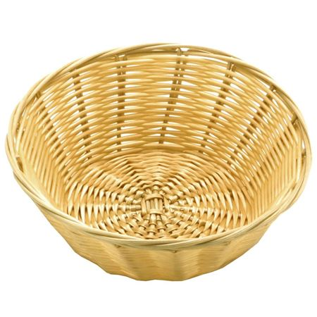 """Picture of POLY RATTAN BASKET ROUND 21.5 CM / 8.5"""""""
