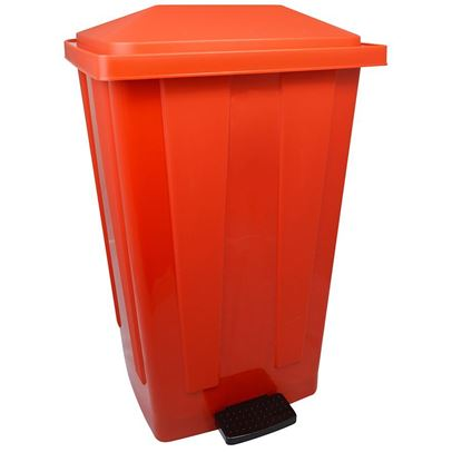 Picture of PLASTIC PEDAL BIN 48ltr - RED