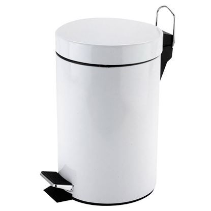 Picture of PEDAL BIN ROUND WHITE 3ltr